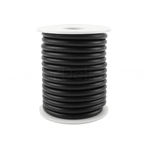 "Beading Craft Necklace 1//4/"" Black Solid Rubber Cord 50 Feet .25/"" Round"