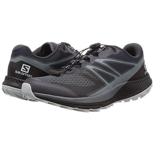 Size: 12.5 Ebony//Stormy Weather//Pearl Blue Sense Escape 2 Salomon Mens Trail Running Shoes