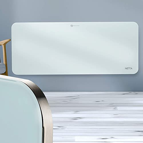 550W Wall Mounted Electric Flat Panel Heater Paintable Slimline NETTA Eco Friendly Ceramic Space Heater Low Energy