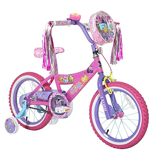 U-LIAN Kids Bike Bell Girl Bicycle Bell Pink Purple Flower with 2 Shiny Scooter
