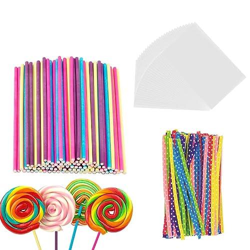 Sausage,Cake pops,Candy Lollipops,Corn Sticks,semi-Pointed Tips Safe for Kids(100 PCS 7 X 5mm Diameter) 7 inch Candy Apple Sticks for Caramel Candy Apple,Corn Dog,Hotdog