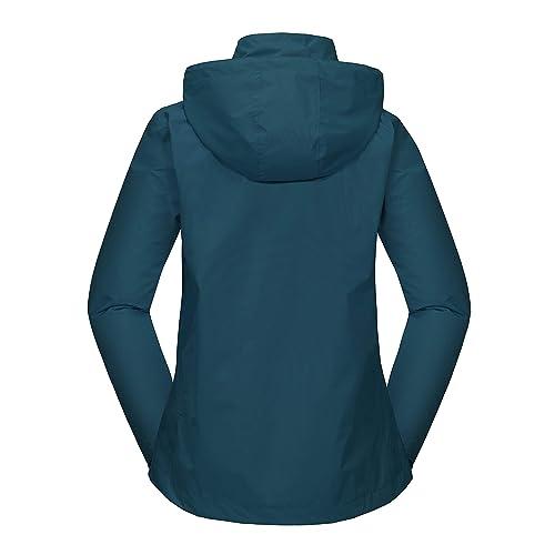 Travel Little Donkey Andy Women/'s Waterproof Rain Jacket Lightweight Outdoor Windbreaker Rain Coat Shell for Hiking