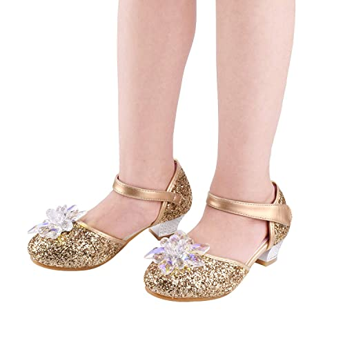Girls Dress Pumps Glitter Sequins Princess Mary Jane Party Dance Shoes