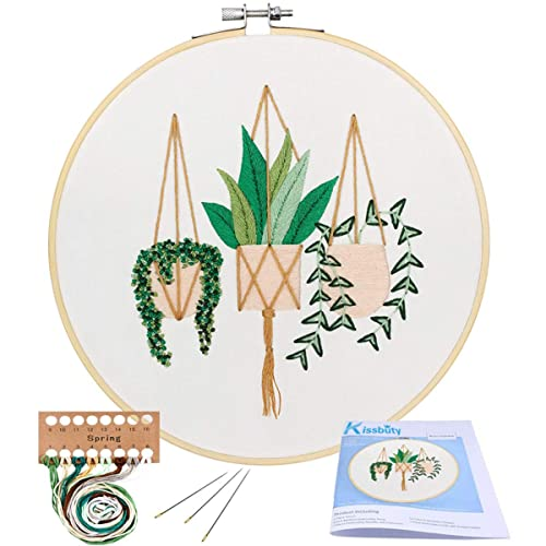 Cross Stitch Kit Including Embroidery Cloth with Color Pattern Unime Full Range of Embroidery Starter Kit with Pattern Embroidery Hoop Sunflower,Bouquet and Tools Kit Color Threads