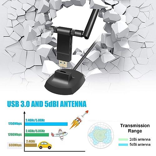 PCI E WiFi Bluetooth Wireless Card Adapter Antennas 1200Mbps for Desktop fs