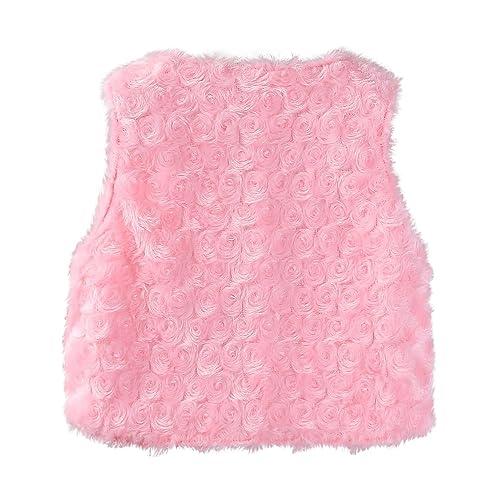 Sooxiwood Baby Girls Vest Fleece Bow Buttons