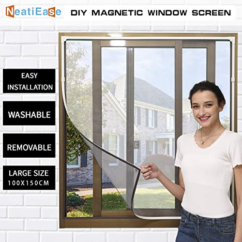 cm, White PALMAT Mosquito Insect Net for Windows Prevents Bug Infestations Adjustable Flyscreen 140 X 100 X 5