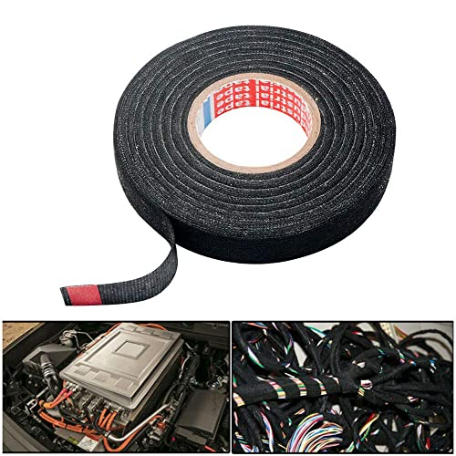 X AUTOHAUX 5pcs Adhesive Cloth Fabric Car Wire Harness Looms Tape 19mm x 15m