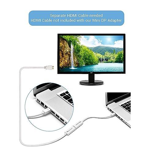 iMac Lenovo Thinkpad X1 etc Microsoft Surface Pro BlueRigger Premium Mini DisplayPort Mini DP | Thunderbolt - For MacBook Pro 15cm HDMI Male to Female Adapter Audio Video HDTV Cable Mac Mini Air