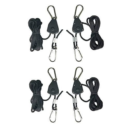 150 lbs Capacity Rope Ratchet 10015 1//4 Rope Ratchet with 15 Solid Braided Polypropylene Rope