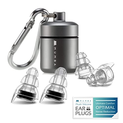 Drummers SNR 28dB/Concert Ear Plugs DJ/'s Aluminum Carry Case Included - White/&Black Mpow High Fidelity Earplugs Noise Reduction Music Earplugs for Musicians Festival Nightclub