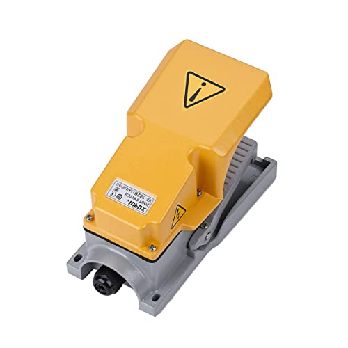 Aodesy Foot Operated Pedal Controller Switch Electric Power Momentary Control On//Off Reset Switch AC250V 10A
