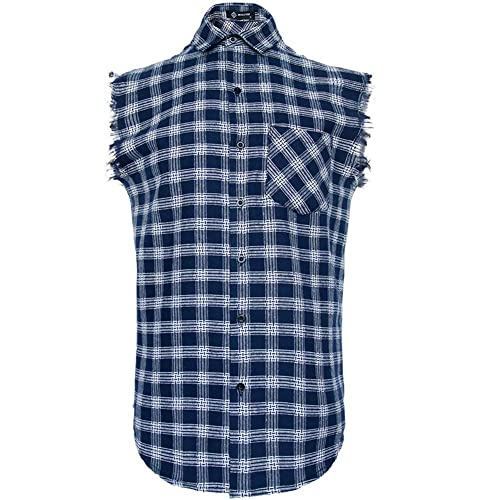 Mens Long Sleeve Flannel Plaid Checkered Button Down Casual Dress Shirts Yellow2 XX-Large