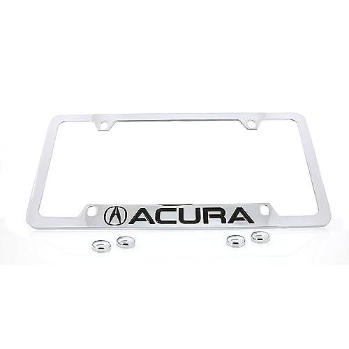 Acura Logo Chrome Metal license Plate Frame Holder