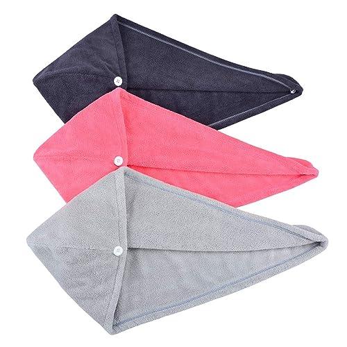 Super Absorbent Anti-Frizz Microfiber Hair Towel Large 63cmx24cm for Women Girls