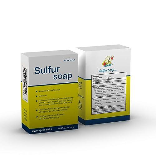 Buy Sulphur Soap - Premium 10% Sulfur Advanced Wash for Acne