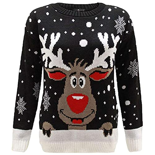 New Ladies Men Xmas Off to the Pub Print Sweater Christmas Jumper Plus Sizes