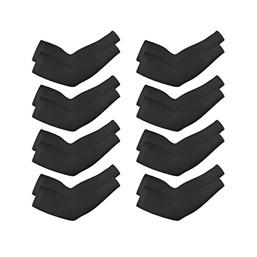 White, Style 2 Boao 8 Pairs Unisex Arm Sleeves UV Sun Protection Cooling Sleeves for Driving Jogging Golfing Riding Outdoor Activities