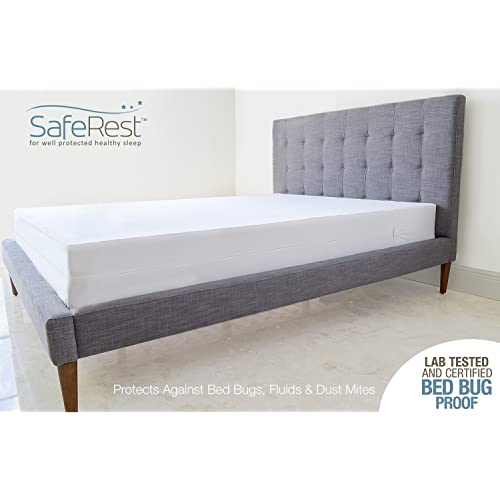 Twin Size SYNCHKG023656 SafeRest Premium Box Spring Encasement Dust Mite and Waterproof Vinyl Free and Noiseless Lab Tested Exclusive Zipper Flap Protection 100/% Bed Bug