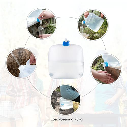 Vektenxi 5L Outdoor Collapsible Drinking Water Bag Car Water Carrier Container for Outdoor Camping Hiking Picnic BBQ Durable and Useful