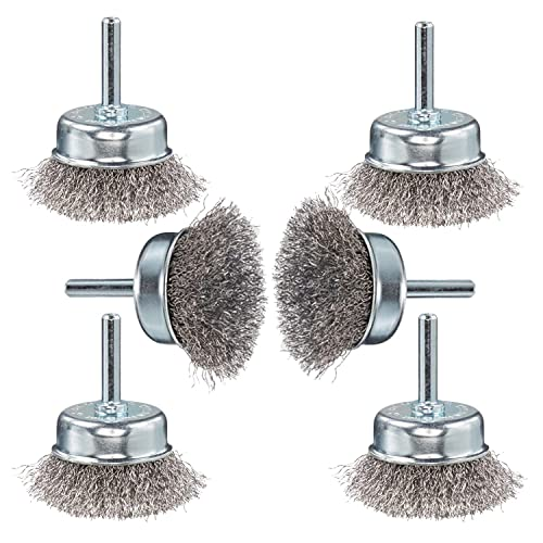 Wire Brush for Drill 1//4 Inch Arbor 0.012 Inch Coarse Carbon Steel Crimped Wire Wheel for Cleaning Rust TILAX Wire Brush Wheel Cup Brush Set 6 Piece Stripping and Abrasive for Drill Attachment