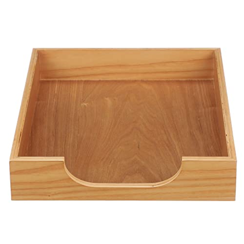 Inbox Tray for Office   Desk Paper Tray for Files and Documents Willow HumanCentric Wood Letter Tray