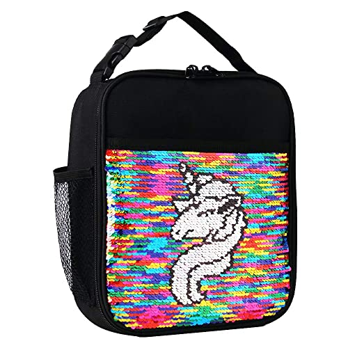 Smash Reversible Sequin Colour Changing Insulated Cold School Lunch Box Heart