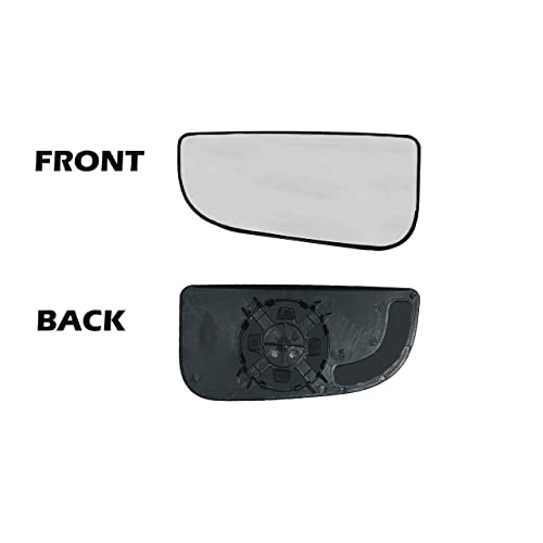 JZSUPER Lower Towing Mirror Glass for 99-07 Ford F250 F350 F450 F550 Super Duty Pickup Truck Passenger Right Side RH Convex Replacement Including Adhesive