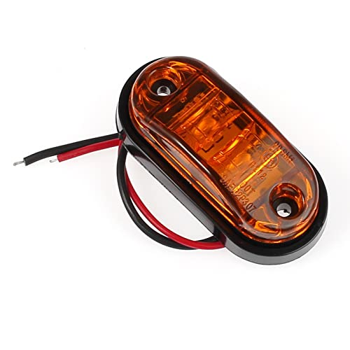 SUNWAN 8Pcs Side Marker Lights 12V//24V Universal Indicator of Position Lamps LED Front Rear Lights with Orange Amber Bulbs for Truck Trailer Van Caravan Lorry Car Bus-8pcs-red