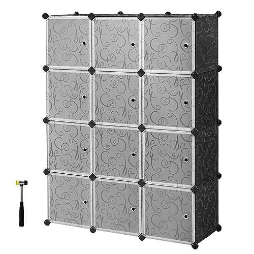 f646aed330b1 Buy SONGMICS Cube Storage Organizer, 12-Cube Closet Storage Shelves ...