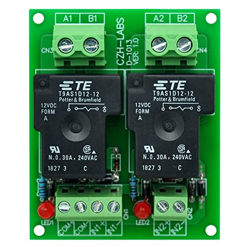 NITRIP Din-Mount-Relays,MRI-3.3D48 DC Photoelectrical Coupler Optocouple Isolating PLC Relay Module Input 3.3VDC Output 3-48VDC