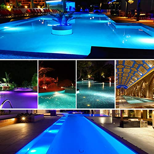 Poolexa Large LED Color Changeable Underwater Pool Light with 30 Feet Cord for Wet Niche