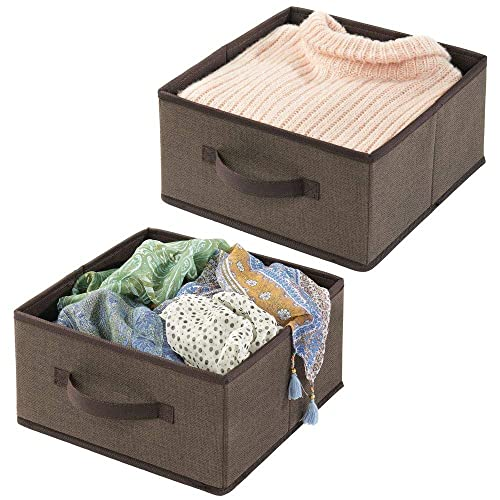 2-Way Zippered Lid Easy-View Top Panel Boots Charcoal//Black Accessories mDesign Soft Fabric Under Bed Storage Organizer Holder Bag for Clothing 4 Sections Chevron Zig-Zag Print Side Handles