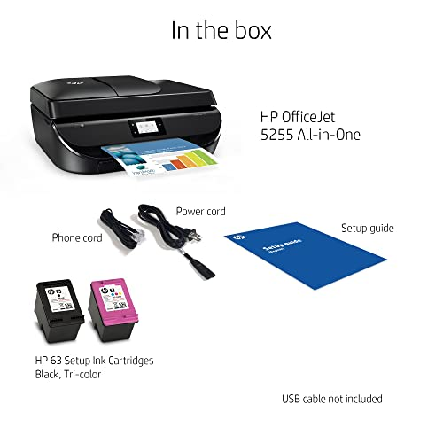 Buy HP OfficeJet 5255 Wireless All-in-One Printer, HP Instant Ink