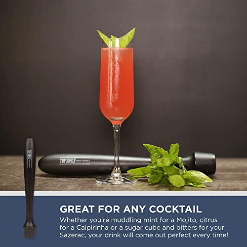 Mashes Fruits Old Fashioneds Professional Grade Bar Tool BlueSkyBos Stainless Steel Cocktail Muddler Mixed Spoon Make Perfect Mojitos Herbs and Spices for Cocktails Mint Juleps /& Many Others