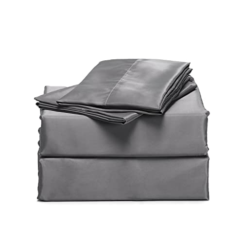 Fitted Sheet Brushed Microfiber 100/% Polyester Silky and Soft Queen Size Black