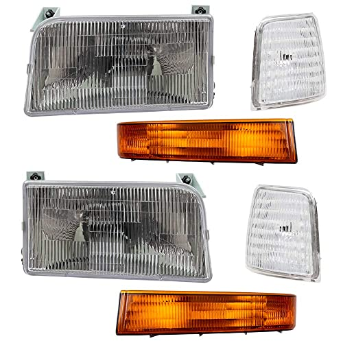 OE Replacement Headlight Assembly FORD BRONCO 1992-1997 Partslink FO2503114