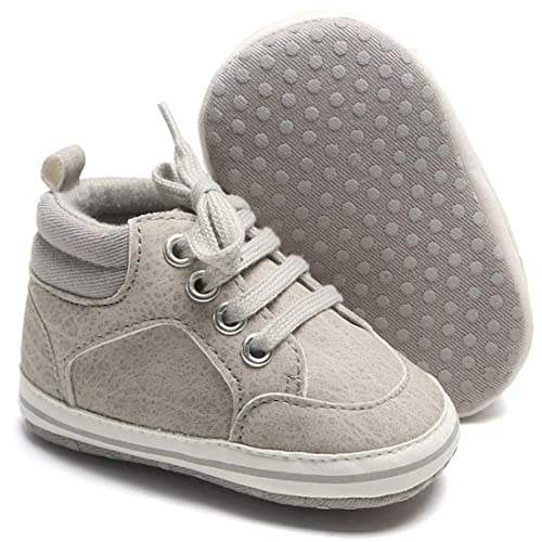 Babelvit Sparkly Baby Canvas Sneakers Infant Boy Girl Soft Sole High Top Ankle Shoes Booties Toddler Newborn Prewalker First Baby Walking Crib Shoes