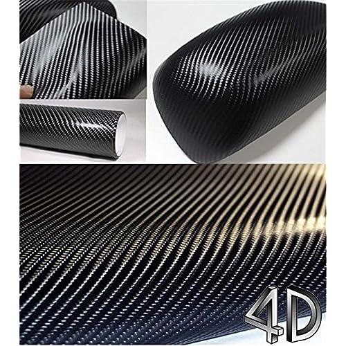 VViViD Black Carbon Fibre Heat-Moldable Moisture-Resistant DIY Vinyl Universal Laptop Wrap 2-Roll Pack