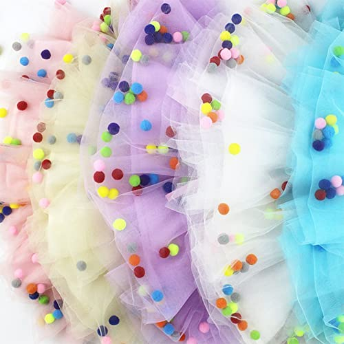 HOOLCHEAN Little Girls Rainbow Star Sparkle Tutu Skirt Ruffle Tulle Princess Ballet Dress