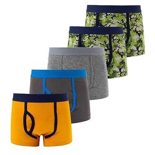 FYDRISE Boys Boxer Briefs Little Boys Underwear Wild ONE 5 Pack Cotton Briefs