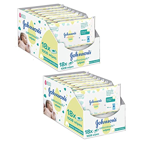 56 X 18 Blended Ph Johnson/'s Baby Cottontouch Extra Sensitive Wipes 1008 Ct