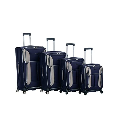 b75bd93a3 Buy Rockland Luggage Impact Spinner 4 Piece Luggage Set, Navy, One Size  with Ubuy Kuwait. B004FMB0TY