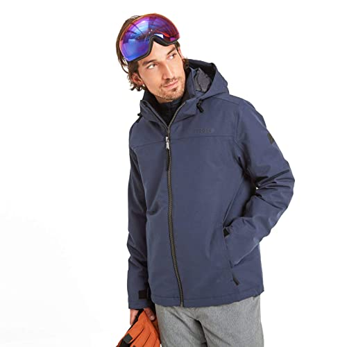 Breathable Warm Insulating Lining Adjustable Hood TOG 24 Cawood Mens Ski Jacket Elasticated Inner Snow Skirt Ski Pass Interior Goggle Pouch Waterproof 5K Rating Skiing and Snowboarding Coat
