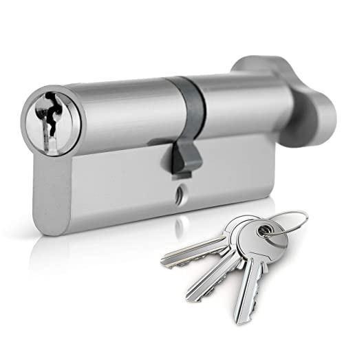 STERLING Euro Profile Double CYLINDER LOCK Nickel Plated 60mm 30//30