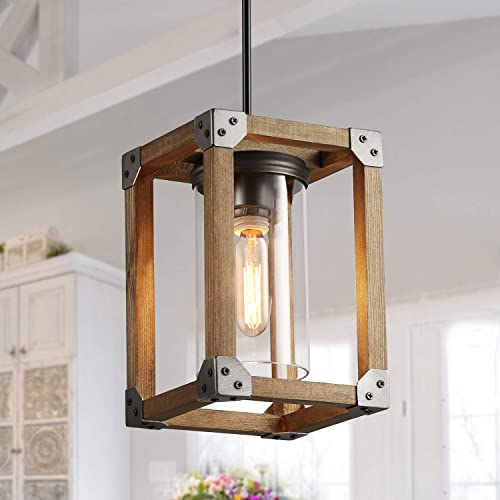 Lnc Farmhouse Pendant Lighting For Kitchen Island Rustic Wood Pendant Lights For Dining Room Foyer Entryway Buy Products Online With Ubuy Kuwait In Affordable Prices B07x1jk1tx