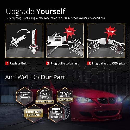 OPT7 H11 HID Kit Headlight Conversion All Ballast Bulb Sizes Xenon Light Color
