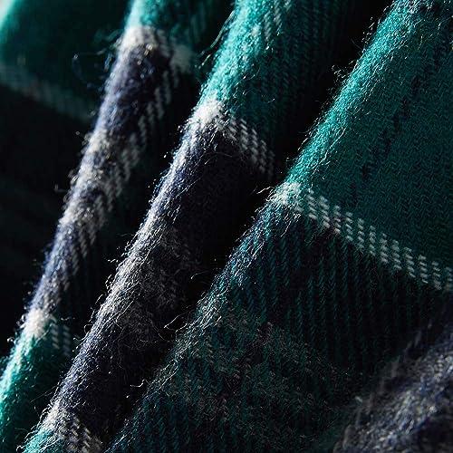 Spring/&Gege Boys Plaid Soft Flannel Pajama Pants 100/% Cotton Lounge Sleep Bottoms Green//Black 5-6 Years