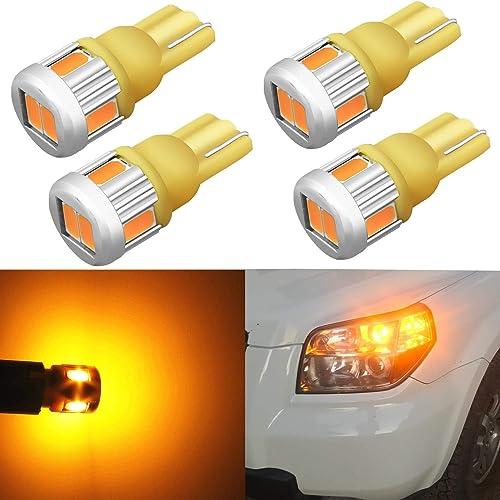 20X Yellow//Amber Side Marker Lights Lamp Wedge Halogen Bulbs T10 194 168 921 158