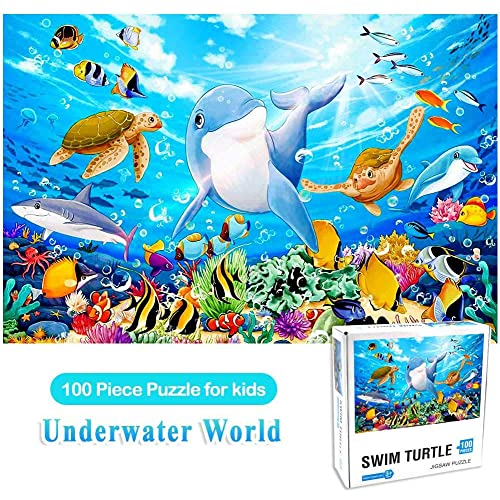 100 Piece Puzzles for Adults Puzzles for Kids Ages 4-8 Puzzles for Toddler Ocean Puzzle Children Learning Preschool Educational Puzzles Toys for Boys and Girls